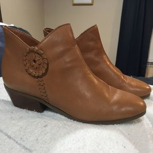 Jack Rogers tan leather booties